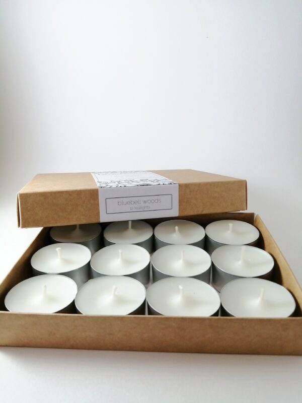 bluebell woods tealights product box open